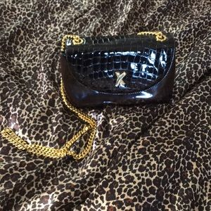 Paloma Picasso patent leather purse